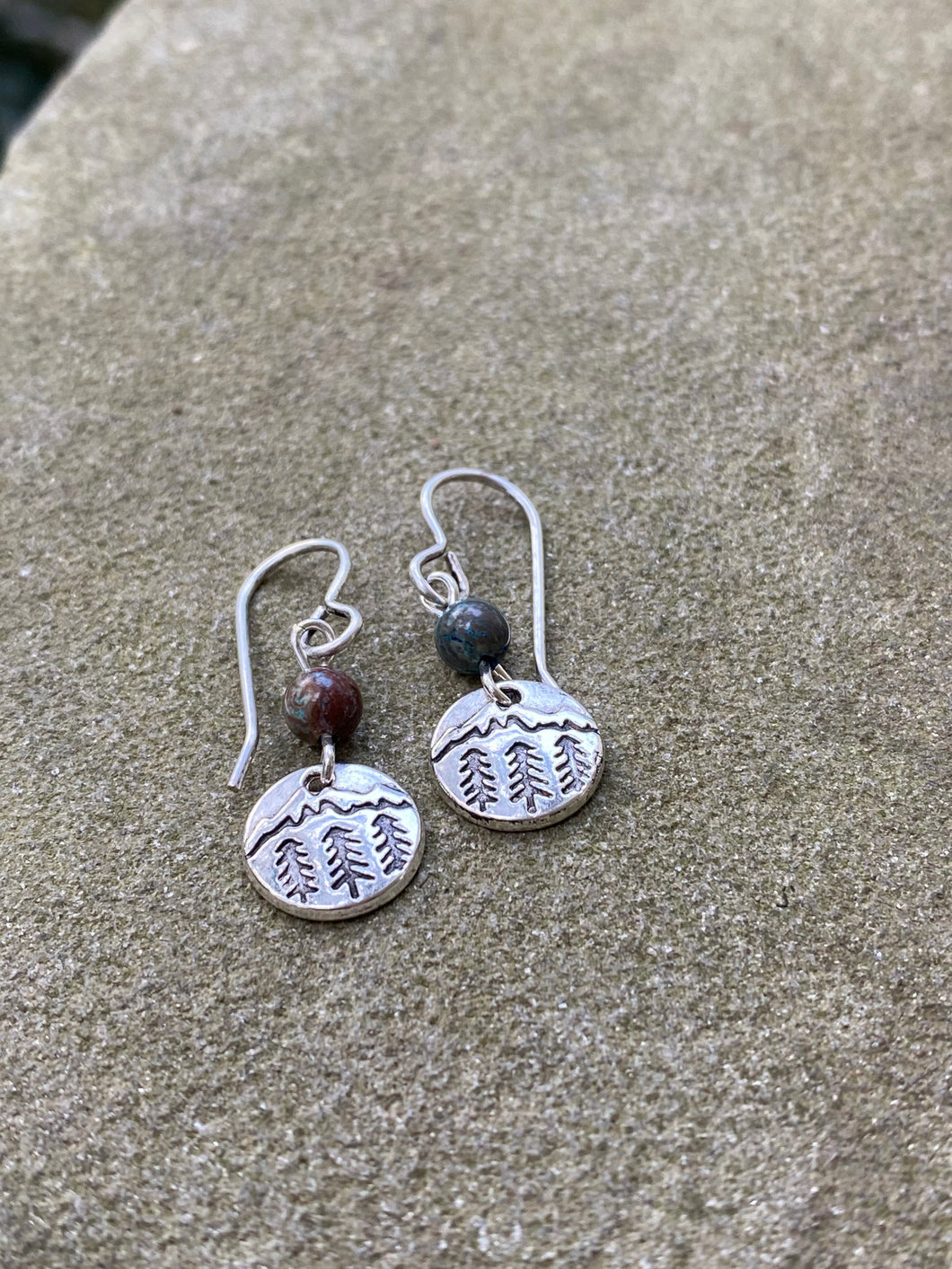 Mountain Necklace/Earrings Set - New Hampshire