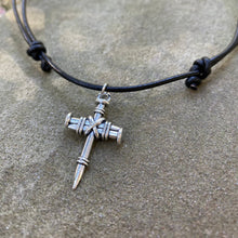 Load image into Gallery viewer, Rugged Nail Cross Necklace