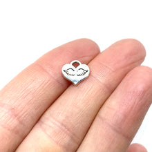 Load image into Gallery viewer, Mini Heart with Stamped Angel Wings