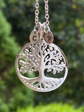 Load image into Gallery viewer, Tree Of Life Initial Necklace
