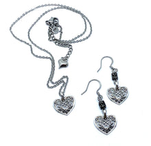 Load image into Gallery viewer, Vintage Heart Earring and Necklace Set