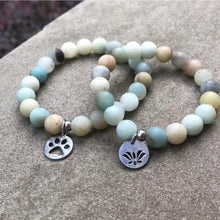 Load image into Gallery viewer, Amazonite Bead Bracelet