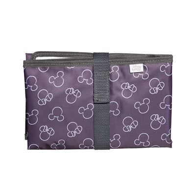 Disney Baby Full Body Changing Pad, Mickey Minnie Grey folded