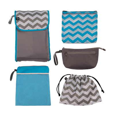 5-IN-1 Diaper Bag Organizer to turn ANY bag into a well-organized diaper bag.