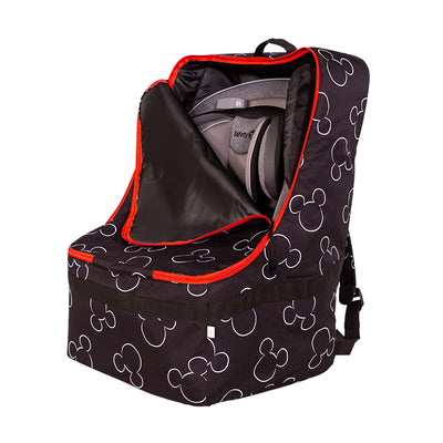 Disney Baby Ultimate Padded Backpack Car Seat Travel Bag, Mickey Black
