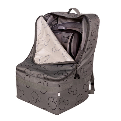 Disney Baby Ultimate Padded Backpack Car Seat Travel Bag, Mickey Grey