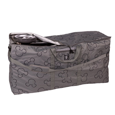 Disney Baby Single & Double Stroller Travel Bag, Mickey Grey