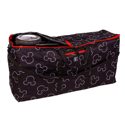 Disney Baby Single & Double Stroller Travel Bag, Mickey Black