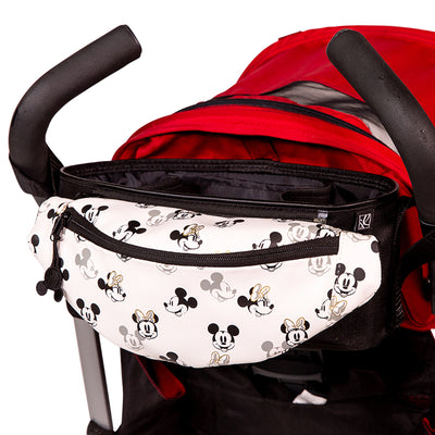 Disney Baby Stroller Organizer with Hip Pack hanging on stroller