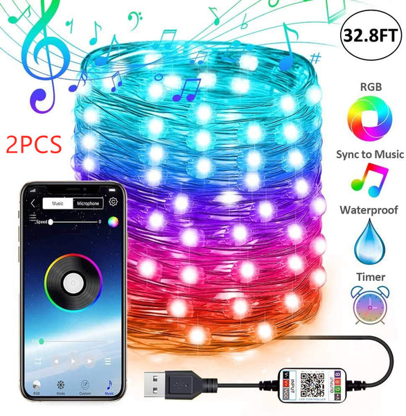 Awesome Christmas LED string lights (App remote control!!)