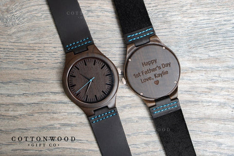 Hand-carved Wooden Watch