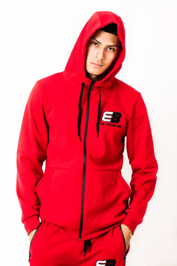 EB The Chosen One Track Suit - Red - TEAM BERLANGA