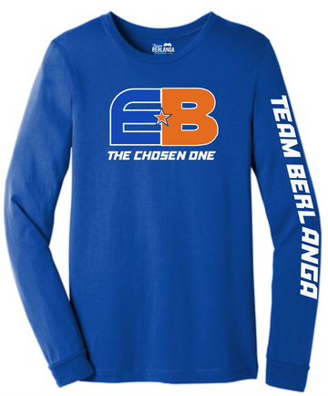 EB The Chosen One Long Sleeve Shirt- Royal - TEAM BERLANGA