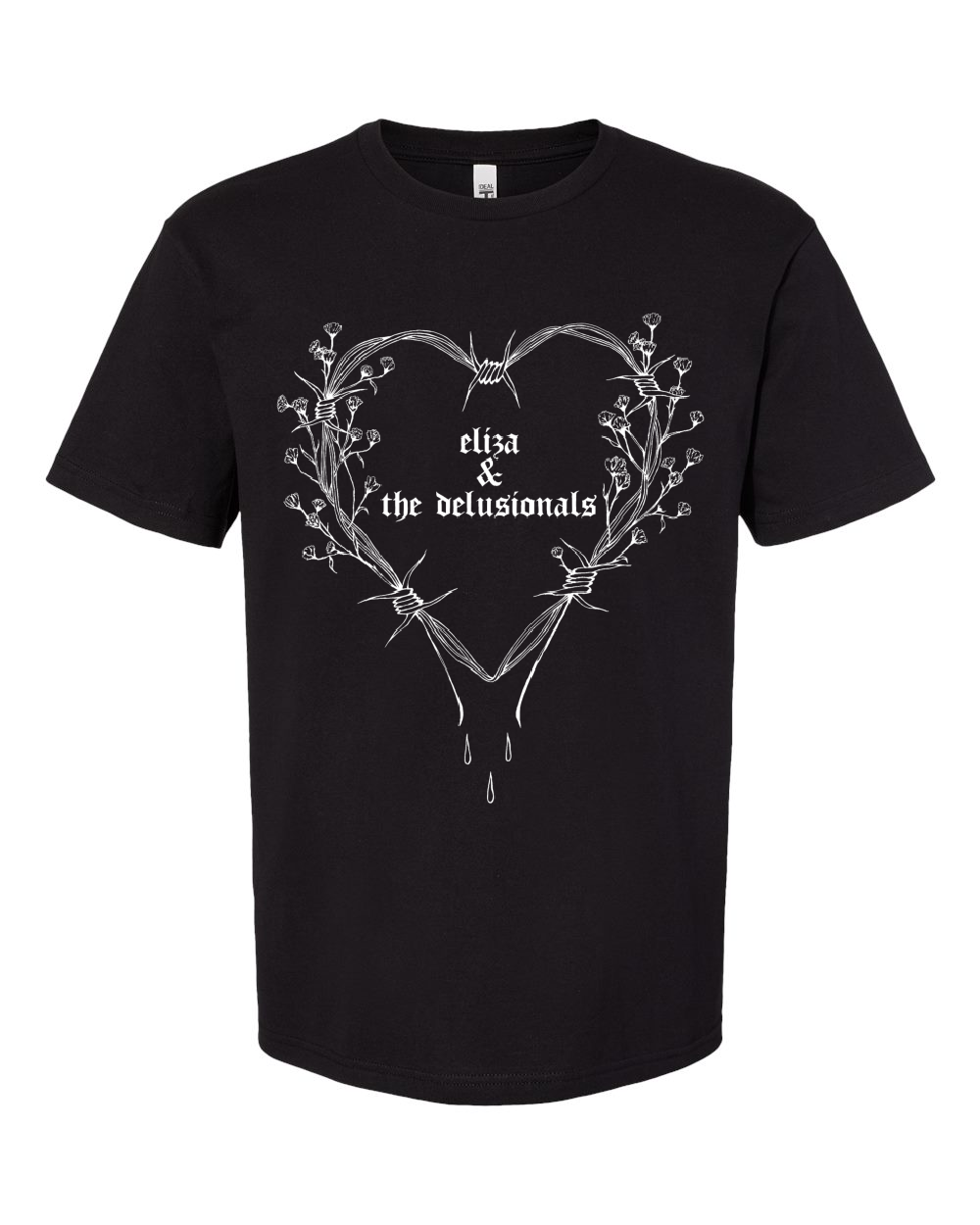 Heart Short Sleeve <br> Unisex <br> Black