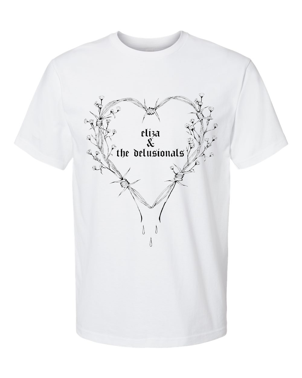 Heart Short Sleeve <br> Unisex <br> White