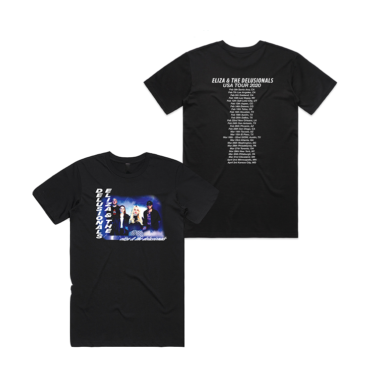 Eliza and the Delusionals 2020 US Tour Tee <br> Unisex <br> (Limited Edition)