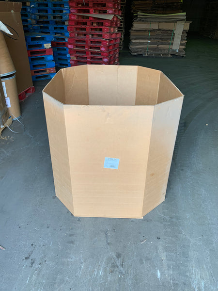 Used 48x40x38 Double Wall Full Bottom Octagon Gaylord Box , Shipping Box, Pallet box