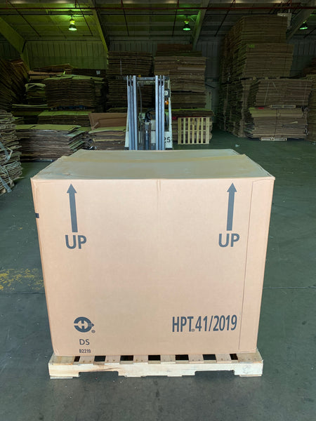 Used 48x40x41 HPT Heavy Duty Six Wall Gaylord Box , Shipping Box, Pallet box