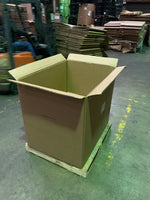 Used 42x34x36 Heavy Duty 6 Wall Gaylord Box , Shipping Box, Pallet box