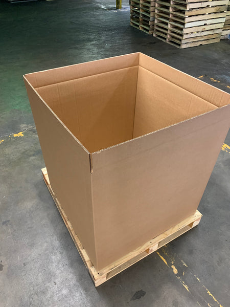 New 36x36x36 Heavy Duty Double Wall Gaylord Box , Shipping Box, Pallet box