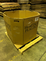 Used 43x38x34 Heavy Duty Octagon Five Wall Gaylord Box , Shipping Box, Pallet box