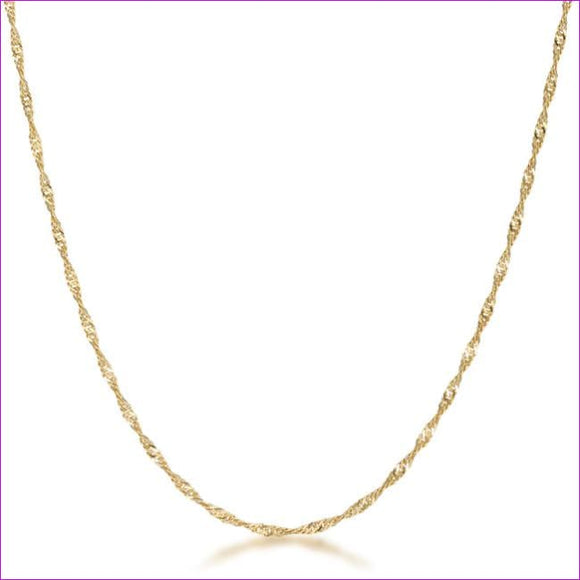 18 Inch Gold Twisted Chain - Necklaces