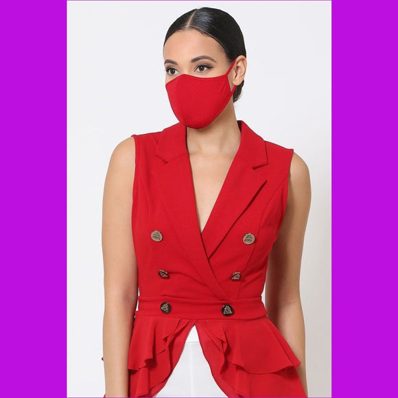 3d Fashion Reusable Face Mask - Red