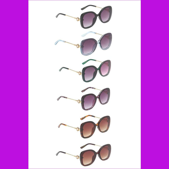 Amazing Lens Pearl Style Decorated Temple Sunglasses