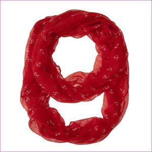 Anchor Red Infinity Scarf - Scarves