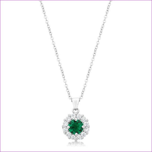 Bella Bridal Pendant in Green - Pendants
