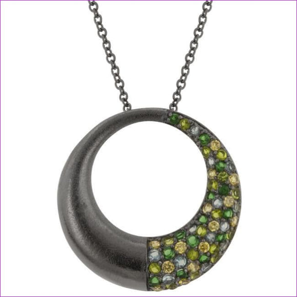 Black Rhodium Hooplet Pendant - Pendants