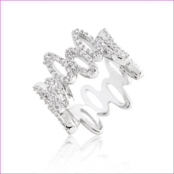 Cubic Zirconia Oval Fashion Ring - Rings