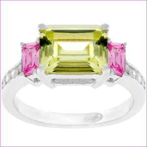 Emerald Cut Triplet Ring - Rings