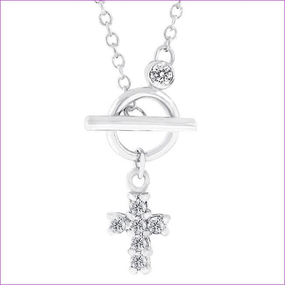 Faith Toggle Necklace - Necklaces