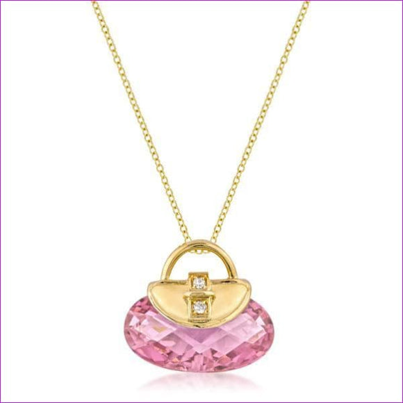 Golden Handbag Pendant - Pendants