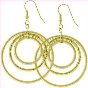 Golden Illusion Hoop Earrings