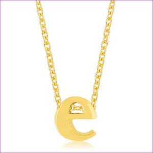 Golden Initial E Pendant - Pendants