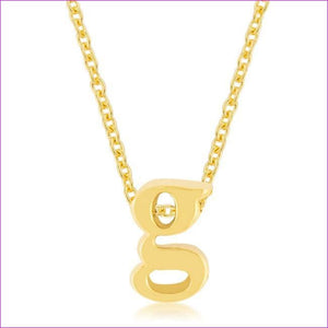 Golden Initial G Pendant - Pendants