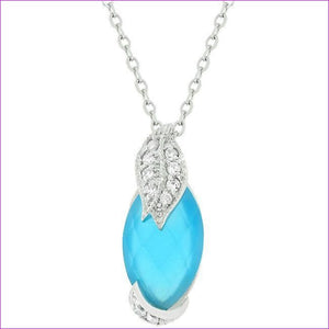 Leaf and Aqua Beauty Pendant - Pendants