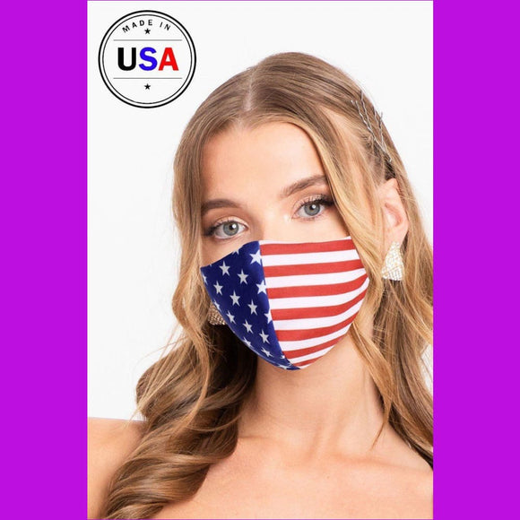 Made In Usa / Fashionable 3d Reusable Face Mask - USA