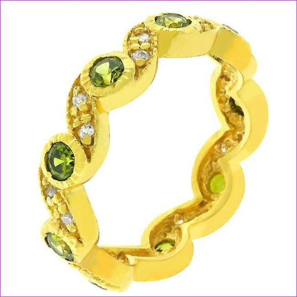 Olive Leaves Eternity Ring - Rings