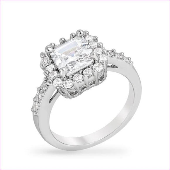 Pave Asscher Ring - Rings