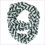 Striped Green Infinity Scarf - Scarves