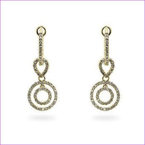 Yellow Gold Diamond Dangles - Fine Jewelry