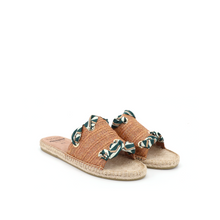 Load image into Gallery viewer, Espadrilles Slippers 01970W Brown