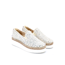 Load image into Gallery viewer, Espadrilles Platform 75028W Silver