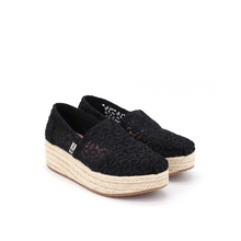 Load image into Gallery viewer, Espadrilles Wedges 86081W Black