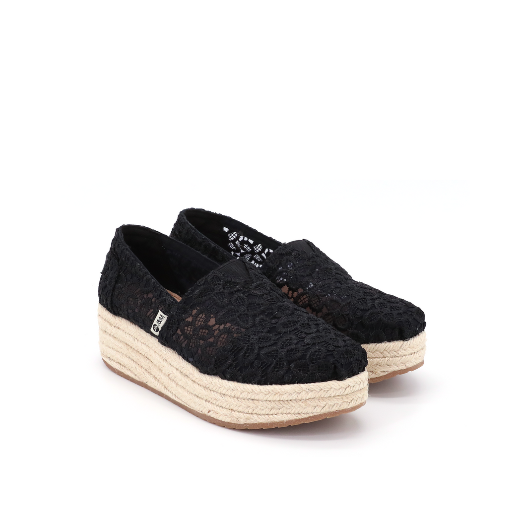 Espadrilles Wedges 86081W Black