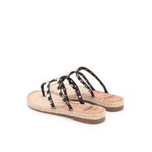 Load image into Gallery viewer, Espadrilles Sandal 01973W Black