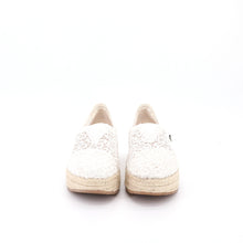 Load image into Gallery viewer, Espadrilles Wedges 86081W White